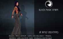 Black Magic Gown ADD ME (JR Wolf Creations)
