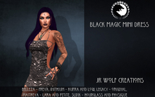 Black Magic Mini Dress ADD ME (JR Wolf Creations)