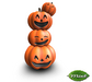 -Mint- Stacked Pumpkins