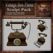 Vintage Box Phone Sculpt Pack, Sculpted Antique Desk Phone, 11 Sculpty Maps & 32 Textures Full Perms