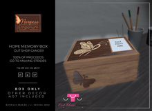 Mariposa Emporium - Hope Memory Box - Out Shop Cancer 100%