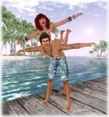 New! COUPLE POSE **Purple Poses**PURPLE POSE - PURPLEPoseBall51