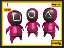 ::DisturbeD:: Squid Game Toons - FULL PERM MESH Character