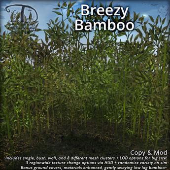Breezy Bamboo Forest Set | Swaying Animated 1 LI Mesh Plants