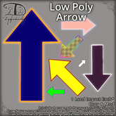 Low Poly Arrow 'cause →sometimes you just need to point←