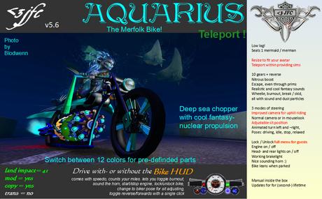 <3 JFC AQUARIUS (The merfolk bike, chopper, motorcycle, deep sea, ride under water)