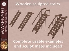 Wasenshi Sculpted wooden stairs sets