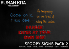 Rumah Kita - Spoopy Signs Pack 2