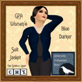 GPA Women's Suit Jacket - Blue Darker