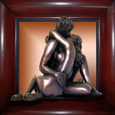 NAKED PASSION .. 3D  -  BRONZE ART