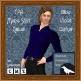 GPA Men's Shirt Casual - Blue Violet Darker