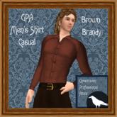 GPA Men's Shirt Casual - Brown Brandy