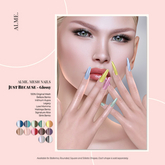 alme. Mesh Rounded Nails - Just Because - Glossy (boxed)