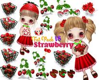 [ CHIBIT ] - Strawberry - FAT PACK 18