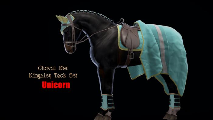 Cheval D'or / TeeglePet Unicorn / Kingsley Tack Set. (Boxed)