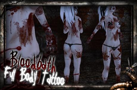 REPULSE - Bloodbath Full Body Blood Tattoo (Male/Female)