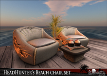 HeadHunter's Island - PROMO - Special Edition artistic Headhunter's Beach chair set - 10 animations - w/  cupcake giver