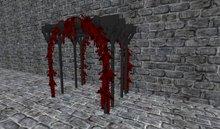 red black gothic vampire Flower Arch Roses
