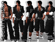(SP) Outlaw Baggy Pants black -Male-