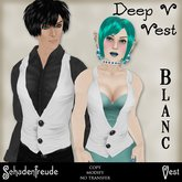 Schadenfreude Blanc Deep V Vest (Marketplace Exclusive)
