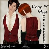Schadenfreude Cranberry Deep V Vest (Marketplace Exclusive)