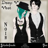 Schadenfreude Noir Deep V Vest (Marketplace Exclusive)