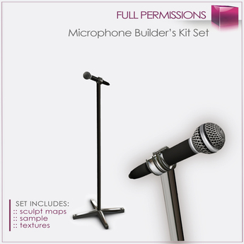 Full Perm Sculpted Microphone Builder's Kit Set FULL PERM