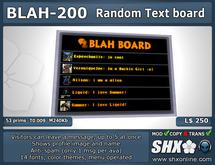 SHX-BLAH-200 - Visitor Random Message Board