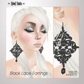 [ glow ] studio - Black Lace Earrings