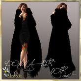 AlaFolie DONNA fur noir coat