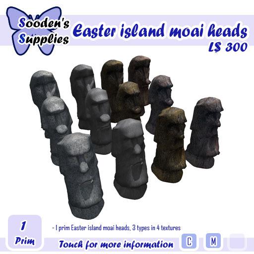Easter island moai heads