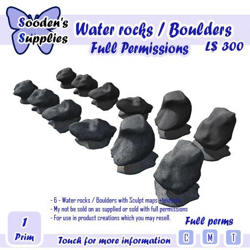 Water rocks / Boulders