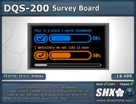 SHX - Dichotomous Question Survey Board - DQS-200