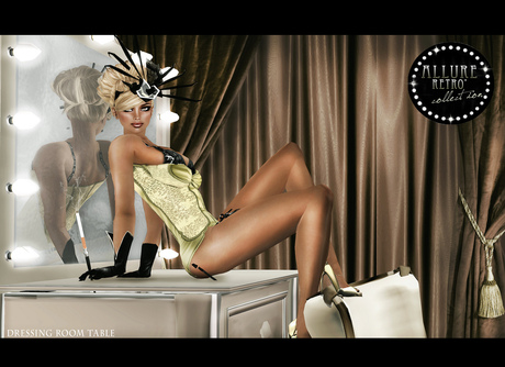 "[LA] LOSTANGEL:  "" Vanity Table"" - Multipose from ""Allure Retro' Collection"""