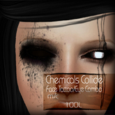 :Little Pricks: Chemicals Collide Face Tattoo/Eye Combo