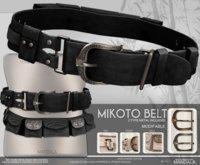 (70%OFF SALE)UNISEX[MANDALA]MIKOTO BELT/BLACK