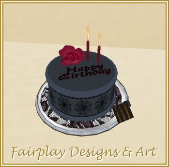 Swell Second Life Marketplace Fda Goth Musical Birthday Cake Birthday Cards Printable Benkemecafe Filternl