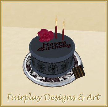Pleasing Second Life Marketplace Fda Goth Musical Birthday Cake Funny Birthday Cards Online Aeocydamsfinfo