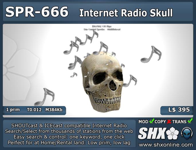 Internet Radio - SHX - SHOUTcast & ICEcast - SPR-666