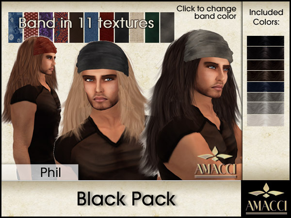 Amacci Hair ~ Phil - Black Pack