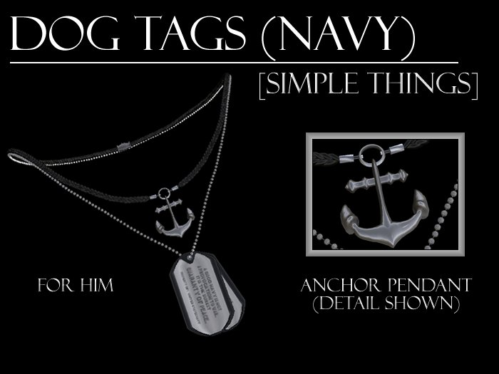 [Simple Things] (Navy) Dog Tags