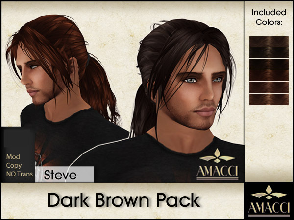 Amacci Hair ~ Steve - Dark Brown Pack
