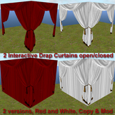 Interactive Drapes Curtains open/close