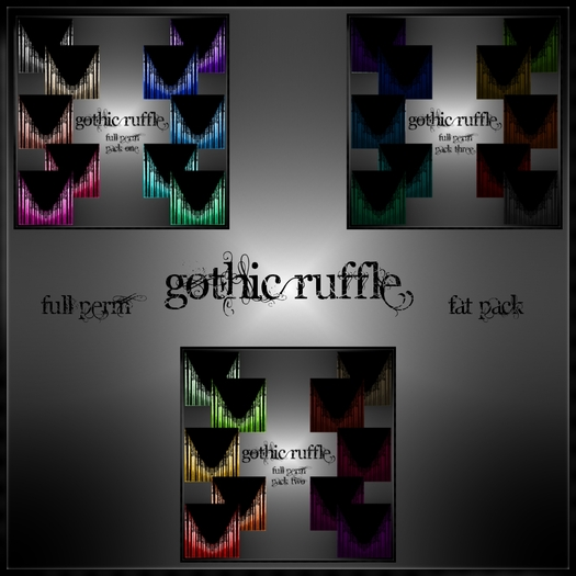 Eternal Creativity ~ Goth fabric fat pack