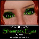 ~*By Snow*~ Shamrock Eyes (Dollarbie)