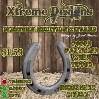 HorseShoe TipJar - Horse Shoe Country Western Tipjar