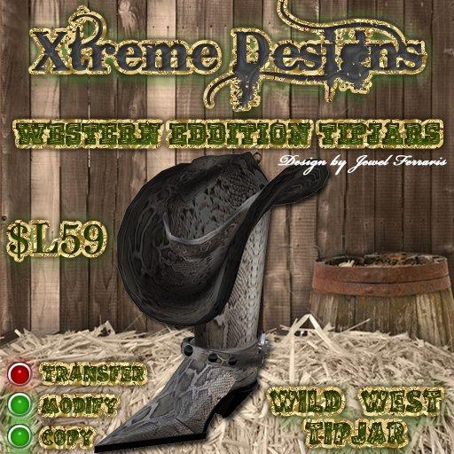 Wild West Tipjar - Cowboy Hat Cowboy Boots Country Western Tipjar