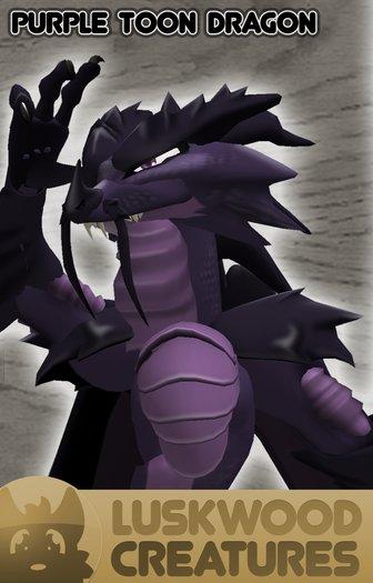 Luskwood LuskToons Purple Dragon Avatar - Complete Furry Avatar