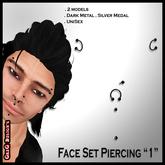 """*GD* - Face Set Piercing """"1"""""""