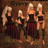 Gypsy in Red & Browns Roleplay dress by Eruption tagFantasy tagMedieval